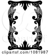 Clipart Black And White Frame Border With Copyspace 8 Royalty Free Vector Illustration