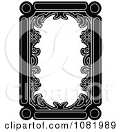 Clipart Black And White Frame Border With Copyspace 1 Royalty Free Vector Illustration
