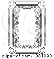 Clipart Black And White Frame Border With Copyspace 2 Royalty Free Vector Illustration