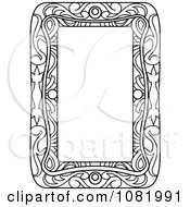 Clipart Black And White Frame Border With Copyspace 3 Royalty Free Vector Illustration