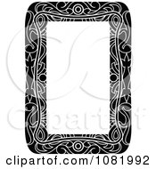 Clipart Black And White Frame Border With Copyspace 4 Royalty Free Vector Illustration