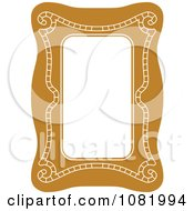 Clipart Brown Frame Border With Copyspace 1 Royalty Free Vector Illustration
