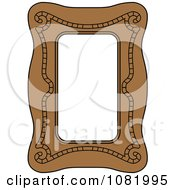 Clipart Brown Frame Border With Copyspace 2 Royalty Free Vector Illustration