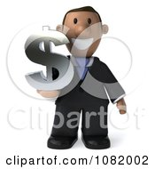 3d Indian Business Guy Holding A Dollar Symbol 1