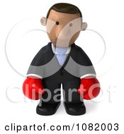 Clipart 3d Sad Indian Business Guy Wearing Boxing Gloves 2 Royalty Free CGI Illustration