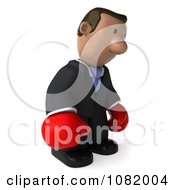 3d Sad Indian Business Guy Wering Boxing Gloves 1