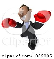 Clipart 3d Indian Business Guy Punching With Boxing Gloves 4 Royalty Free CGI Illustration by Julos