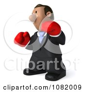 3d Indian Business Guy Wering Boxing Gloves 2