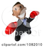3d Indian Business Guy Wearing Boxing Gloves 3
