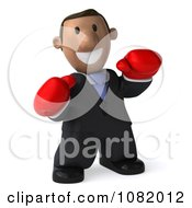 Clipart 3d Indian Business Guy Wering Boxing Gloves 1 Royalty Free CGI Illustration by Julos