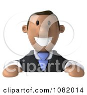 3d Indian Business Guy Smiling Over A Blank Sign