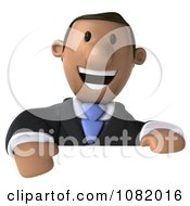 3d Indian Business Guy Presenting Over A Blank Sign