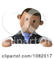 Clipart 3d Indian Business Guy Looking Down At A Blank Sign Royalty Free CGI Illustration by Julos