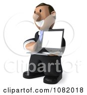 Clipart 3d Indian Business Guy Presenting A Laptop Computer 2 Royalty Free CGI Illustration by Julos