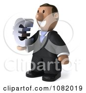 3d Indian Business Guy Holding A Euro Symbol 2