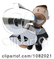 3d Indian Business Guy Holding A Dollar Symbol 3