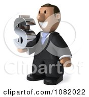 3d Indian Business Guy Holding A Dollar Symbol 2