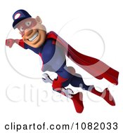 Clipart 3d Super Auto Mechanic Flying 1 Royalty Free CGI Illustration