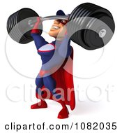 Clipart 3d Super Auto Mechanic Struggling With A Barbell Royalty Free CGI Illustration