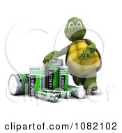 Clipart 3d Tortoise With Rechargeable Batteries Royalty Free CGI Illustration