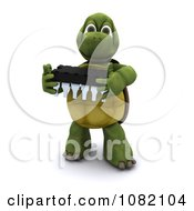 Clipart 3d Tortoise Holding An Electrical Component Royalty Free CGI Illustration by KJ Pargeter