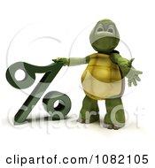 Clipart 3d Tortoise Presenting A Percent Symbol Royalty Free CGI Illustration