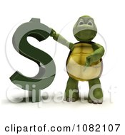 Clipart 3d Tortoise Presenting A Dollar Symbol Royalty Free CGI Illustration by KJ Pargeter