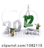 3d Tortoises Hoisting 12 For New Year 2012