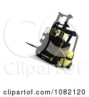 Clipart 3d Yellow Warehouse Forklift Royalty Free CGI Illustration by KJ Pargeter