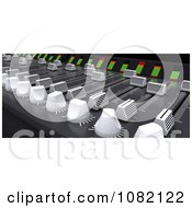 Clipart 3d Music Mixing Desk Royalty Free CGI Illustration