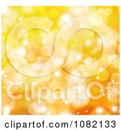 Clipart Orange Golden Sparkly Christmas Background Royalty Free CGI Illustration