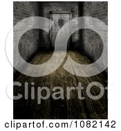 Clipart 3d Wooden Floored Hallway And Prison Door Royalty Free CGI Illustration by KJ Pargeter