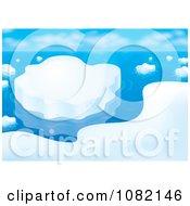 Clipart Arctic Coastal Ice Scene Royalty Free Illustration
