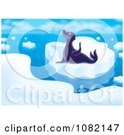 Clipart Arctic Seal On Coastal Ice Royalty Free Illustration by Alex Bannykh