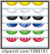 Clipart Set Of Colorful Rounded Tab Design Elements Royalty Free Vector Illustration
