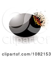 Clipart 3d Black Exploding Stone Design Element Royalty Free Vector Illustration