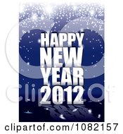 Happy New Year 2012 Greeting On Blue With Sparkles