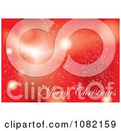 Clipart Red Merry Christmas Background Royalty Free Vector Illustration by michaeltravers