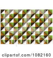 Clipart Diamond Brown Green And Orange Texture Background Royalty Free Vector Illustration by michaeltravers