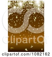 Clipart Background Of Glowing Lights Or Sparks Over Orange Royalty Free Vector Illustration
