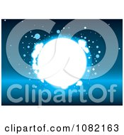 Clipart Bright Light As In Heaven On Blue Royalty Free Vector Illustration by michaeltravers