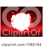 Clipart Bright Light Hole On Red Royalty Free Vector Illustration by michaeltravers