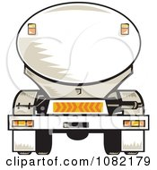 Clipart Rear Vview Of A Tanker Big Rig Truck Royalty Free Vector Illustration