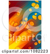 Colorful Background With Streaks And Circles