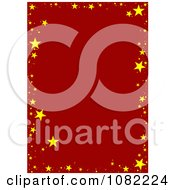 Clipart Red Background Bordered With Golden Stars Royalty Free Vector Illustration