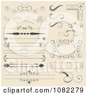 Clipart Set Of Vintage Corner Rules Borders And Frames Royalty Free Vector Illustration by vectorace #COLLC1082279-0166