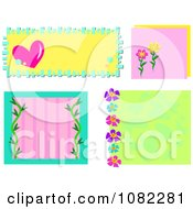Colorful Heart And Floral Frames