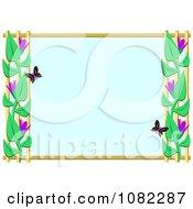 Blue Butterfly Frame