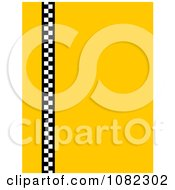 Solid Yellow Background With Vertical Taxi Checkers