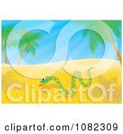 Clipart Snake Slithering Through Desert Sand Royalty Free Illustration by Alex Bannykh